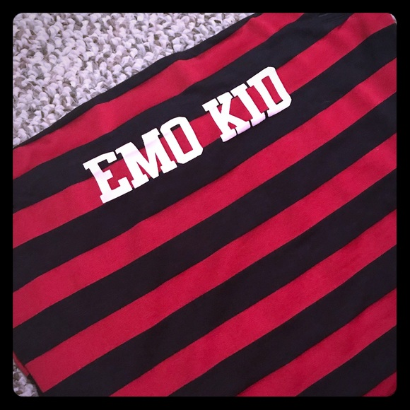 Omighty Tops Emo Tube Top Red Black Large Poshmark